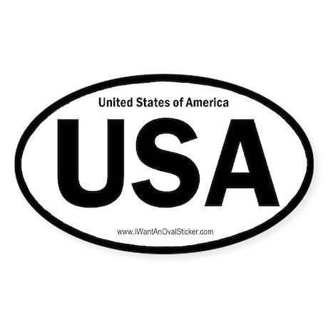 United States of America Oval Sticker