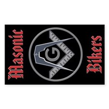 Masonic Bikers Rectangle Sticker