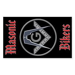 Masonic Bikers Rectangle Decal