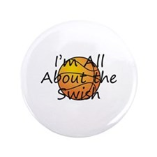 """TOP Basketball Swish 3.5"""" Button (100 pack)"""