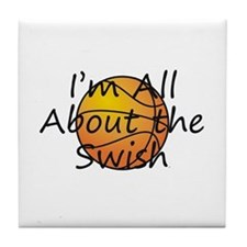 TOP Basketball Swish Tile Coaster