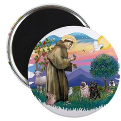St Francis #2/ Pugs (blk&f) 2.25