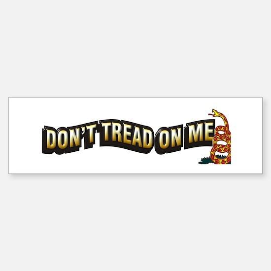 Funny Don %27t tread on me Sticker (Bumper)