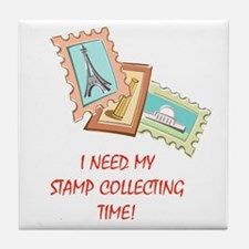 Stamp Collecting Time! Tile Coaster