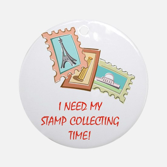 Stamp Collecting Time! Ornament (Round)