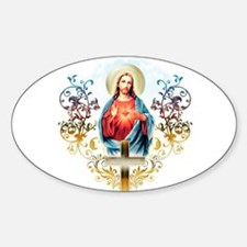 Sacred Heart of Jesus Sticker (Oval)