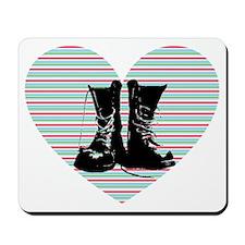 Heart Boots Mousepad