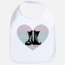 Heart Boots Bib