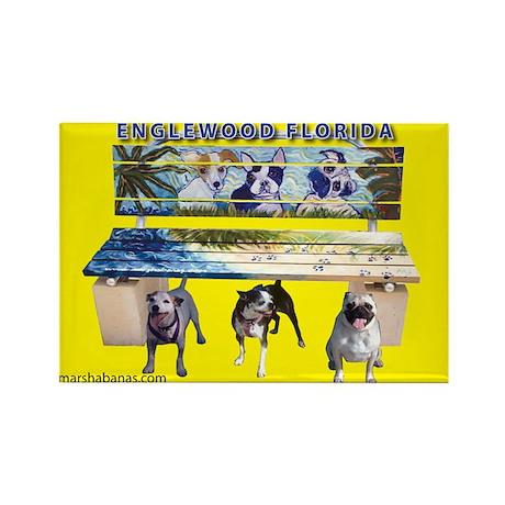 Arf Art Dogs Rectangle Magnet