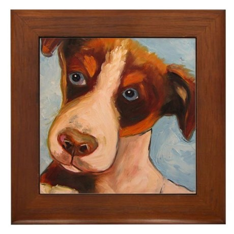 Arf Art Dogs Framed Tile