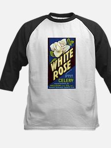 White Rose Celery Crate Label Kids Baseball Jersey