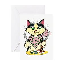 Sushi Cat Greeting Card
