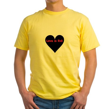 Love is Evil Yellow T-Shirt