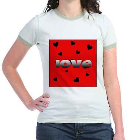 Love Sucks Jr. Ringer T-Shirt