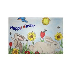 Happy Easter Rectangle Magnet (10 pack)