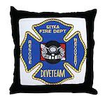 Sitka Fire Dept Dive Team Throw Pillow