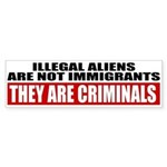 Illegal Aliens Are Not Immigr Sticker (Bumper)