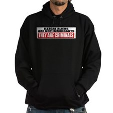 Illegal Aliens Are Not Immigr Hoodie