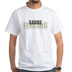 Sabre Fencing White T-Shirt