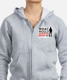"""What Would Detective Beckett Do?"" Zip Hoodie"