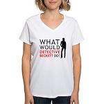 """What Would Detective Beckett Do?"" Women's V-Neck"