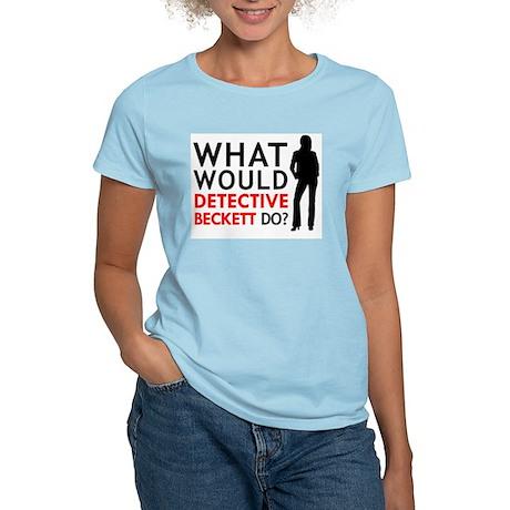 """""""What Would Detective Beckett Do?"""" Women's Light T"""