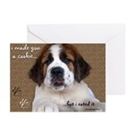 St Bernard Puppy Cookie Greeting Cards (Pk of 20)