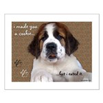 St Bernard Puppy Cookie Small Poster