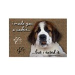 St Bernard Puppy Cookie Rectangle Magnet