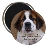 St Bernard Puppy Cookie Magnet