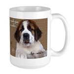 St Bernard Puppy Cookie Large Mug