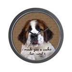 St Bernard Puppy Cookie Wall Clock