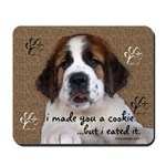 St Bernard Puppy Cookie Mousepad