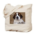 St Bernard Puppy Cookie Tote Bag