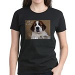 St Bernard Puppy Cookie Women's Dark T-Shirt