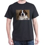 St Bernard Puppy Cookie Dark T-Shirt