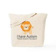 I Have Autism Lion Tote Bag