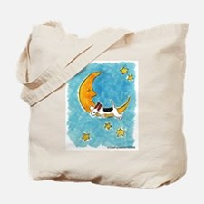 Wire Fox Terrier/Moon Tote Bag