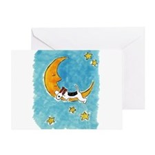 Wire Fox Terrier/Moon Greeting Card