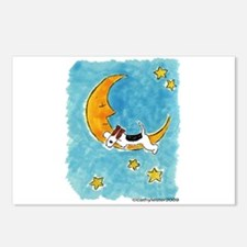 Wire Fox Terrier/Moon Postcards (Package of 8)