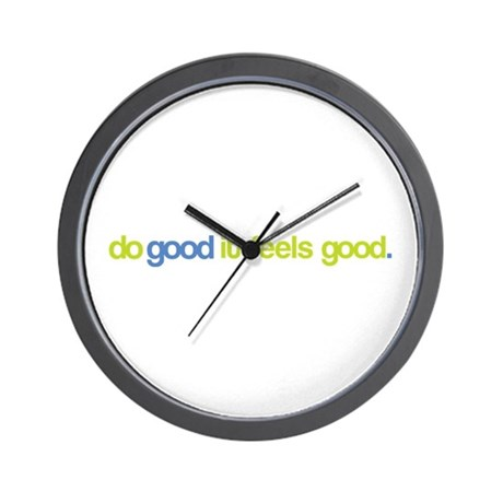 Official Do Good It Feels Good Wall Clock