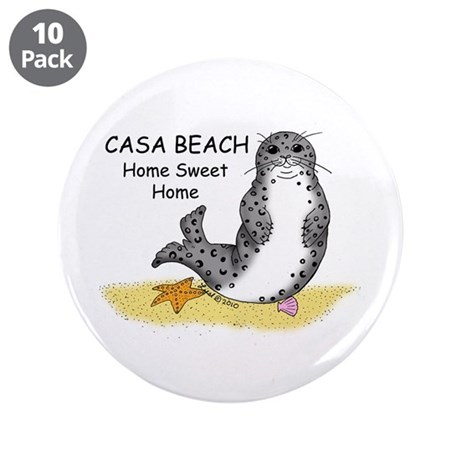 """Harbor Seal 3.5"""" Button (10 pack)"""