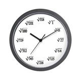 Cube root Wall Clocks