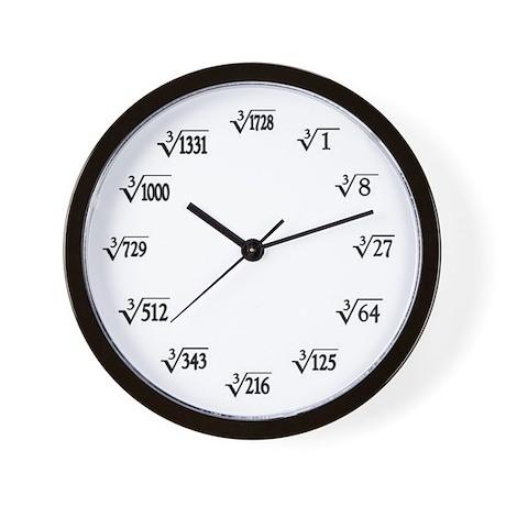 Cubed Root Wall Clock
