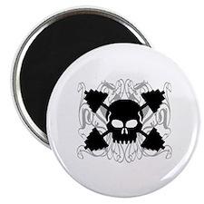 Weightlifting Skull Magnet