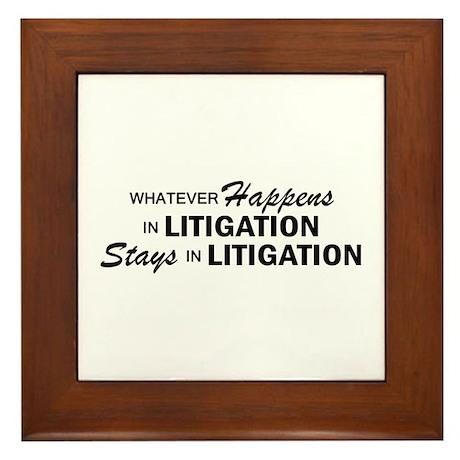 Whatever Happens - Litigation Framed Tile