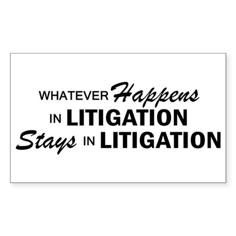 Whatever Happens - Litigation Sticker (Rectangle)