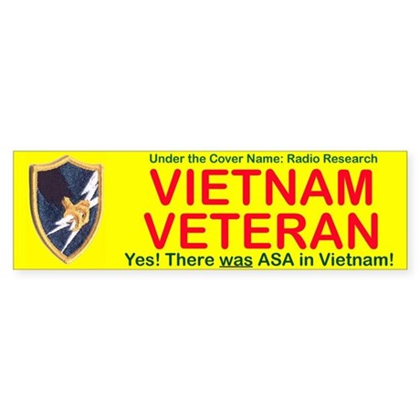 Asa Vietnam Veteran Yes There Was!! Bumper Sticker