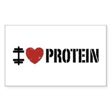 I Love Protein Decal