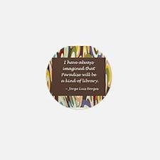 Paradise the Library Mini Button